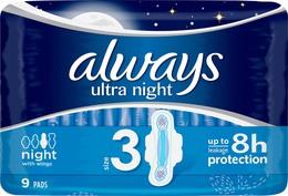 Always Ultra Night bind LC, 9 stk