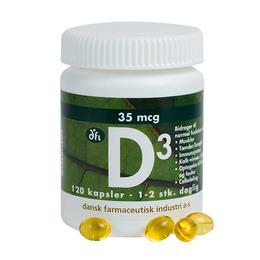 Dansk Farmaceutisk Industri D-Vitamin 35 mcg 120 kapsler