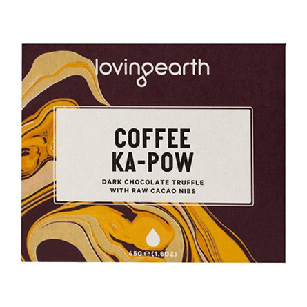 Loving Earth Chokolade Coffee Ka-Pow Øko 45 gr.