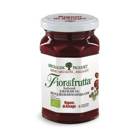 Marmelade Ø m. jordbær & skovjordbær Italiensk 250 g