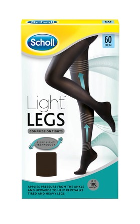 Scholl Light Legs Sort 60 Den. Str. S