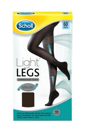 Scholl Light Legs Sort 60 Den. Str. L