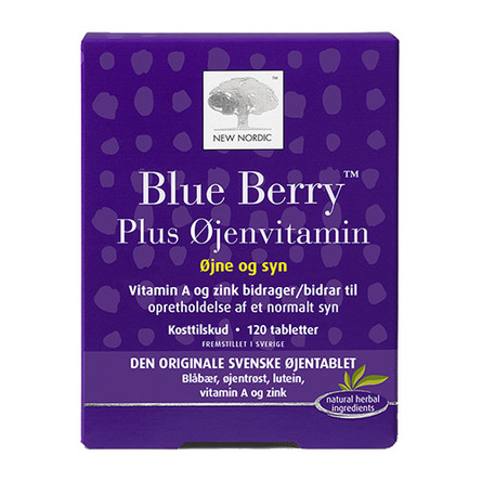 New Nordic Blue Berry Plus Øjenvitamin 120 tabl.