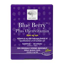 New Nordic Blue Berry Plus Øjenvitamin 120 tabl.