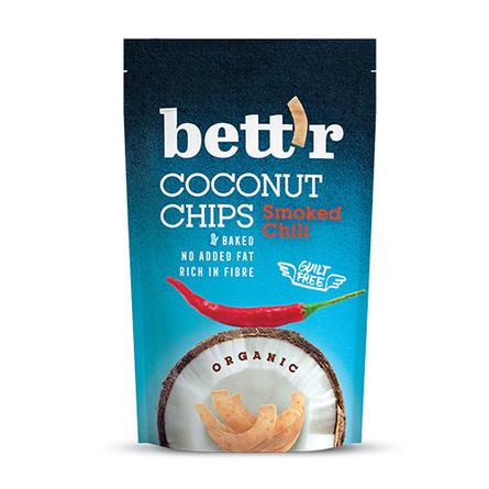 Kokos chips med røget chili 70 g