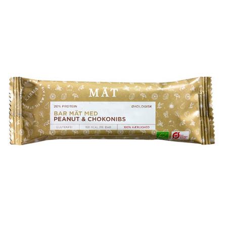 Organic snack bar Ø m. peanut & cacao nibs 40 g