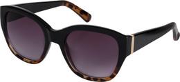 Pilgrim solbrille Edita, Guld belagt, sort