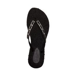 Ilse Jacobsen Ladies Flip Flop with Stones Black size 38