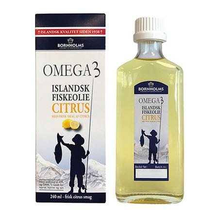 Islandsk fiskeolie citrus Omega 3 Bornhol 240 ml