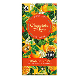 Chocolate and Love Chokolade Orange 65% Øko 80 gr.