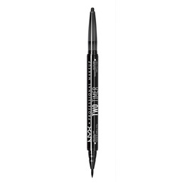 NYX PROFESSIONAL MAKEUP 2 Timer Dual Ended Eyeliner Jet Black