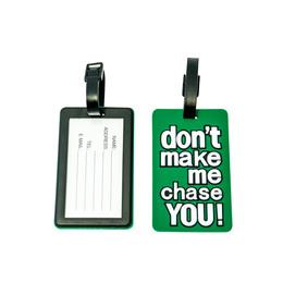 GoTravel Bagage Etiket med grøn tekst 2-pak