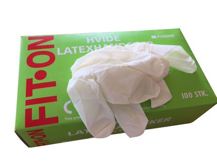 Nygaard Latex handsker med pudder str. S 100 stk.
