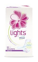 Tena Lights by Tena LinerSingled Wraped 22 stk.