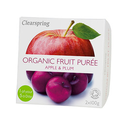 Frugtpuré blomme, æble Ø 200 g