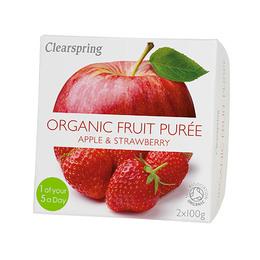 Frugtpuré æble, jordbær Ø 200 g