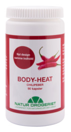 Body Heat kapsler 400 mg Chilipeber 90 kap