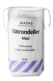 Matas Striber Vatrondeller Maxi 40 stk.