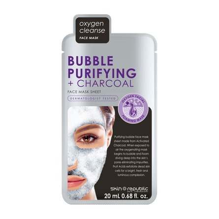 Skin Republic Bubble Purifying + Charcoal Face Mas