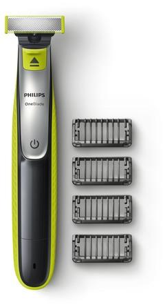 Philips OneBlade inkl. 4 stk. Trimmekamme