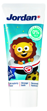 Jordan Kids tandpasta 0-5 år 50 ml 0-5 år