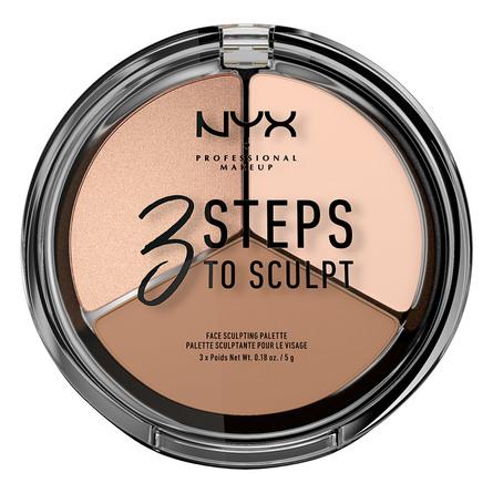 NYX PROFESSIONAL MAKEUP 3 Steps To Sculpt Palette Fair
