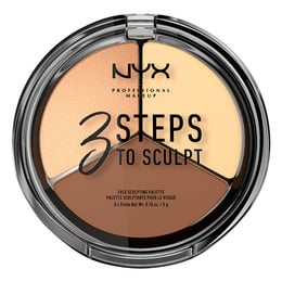 NYX PROFESSIONAL MAKEUP 3 Steps To Sculpt Palette Light