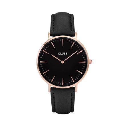 Cluse LA BOHÈME  DAME UR CL18001 Rose Gold, Black/Black