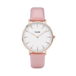 Cluse La Bohème Dameur CL18014 Rose Gold, White/Pink