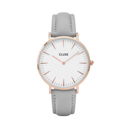 Cluse La Bohème Dameur Rose Gold CL18015 White/Grey