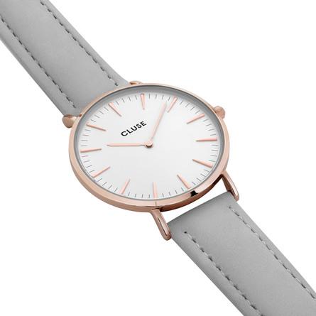 Cluse La Bohème Dameur Rose Gold CL18015 White/Grey