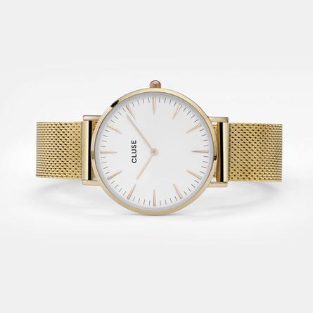 Cluse La Bohème Mesh Dameur CL18109 Gold/White