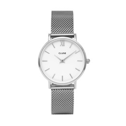 CLUSE MINUIT MESH SILVER/WHITE DAME UR