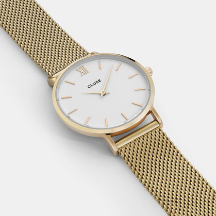 Cluse Minuit dameur CL30010 Gold/White