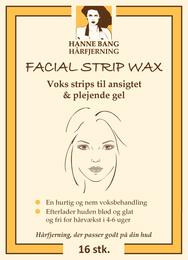 Hanne Bang Facial Strip Wax 16 stk.