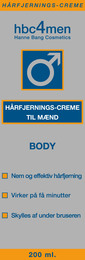 Hanne Bang Hårfjerningscreme til Mænd 200 ml 200 ml
