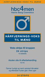 Hanne Bang Hårfjerningsvoks til Mænd 24 strips 24 Strips