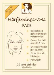 Hanne Bang Hårfjernings-voks FACE, 20 strimler