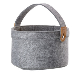 Zone filt kurv, grey, 26x13 cm