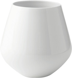 Royal Copenhagen Hvid Riflet vase stor 20,5 cm