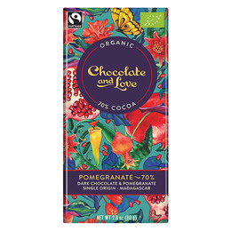 Chocolate and Love Chokolade Pomegranate 70%  Øko 80g