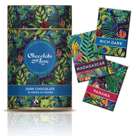 Chocolate and Love Chokolade Gavedåse Rich Dark 30 stk. Øko