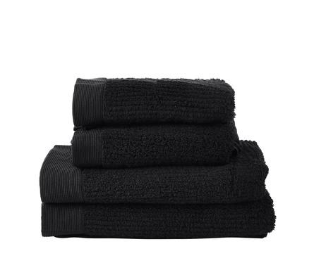 Zone Håndklædepakke 4 stk Sort