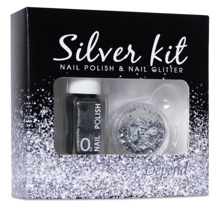 Depend Silver Kit Glitter gaveæske