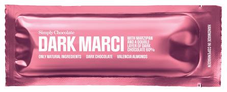 Simply Chocolate Dark Marci chokoladebar 40 gr. Dark Marci chokoladebar 40 gr.