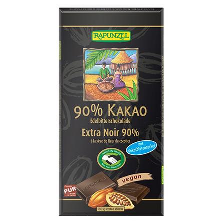 Chokolade 90% kakao Ø 80 g
