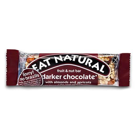 Mørk chokoladebar m. mandler og abrikoser E 45 g