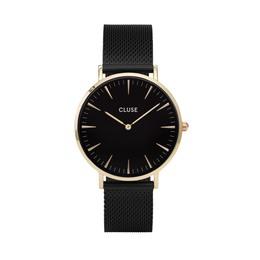 Cluse La Bohème Mesh Dameur CL18117 Gold, Black/Black