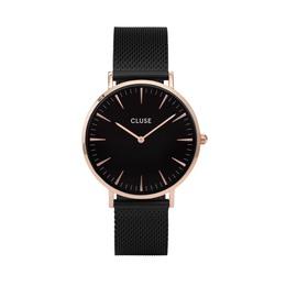 Cluse La Bohème Mesh Dameur Rose Gold CL18034 Black/Black