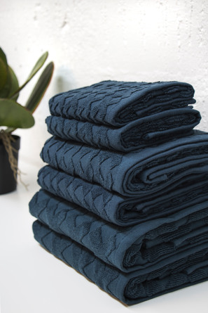 Mette Ditmer Håndklædepakke 6 stk. Navy
